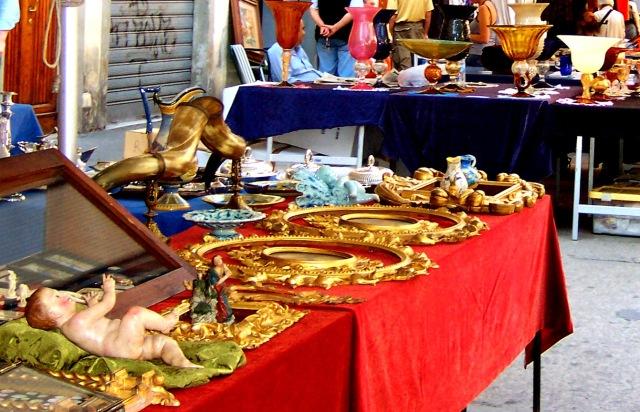 antiques market in piazza dei ciompi