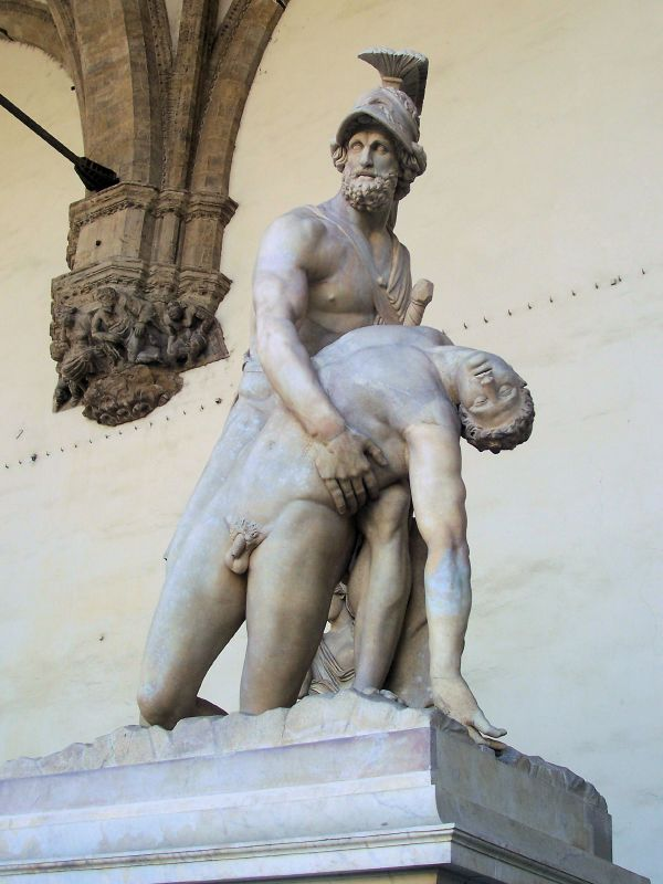 Roman copy of Greek Original, Menelaus and Patroclus, Loggia dei Lanzi
