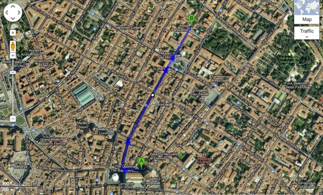 chiostro dello scalzo walking map