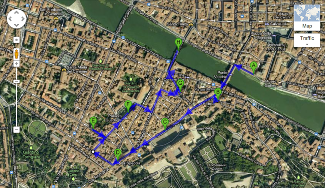 santo spirito walking map