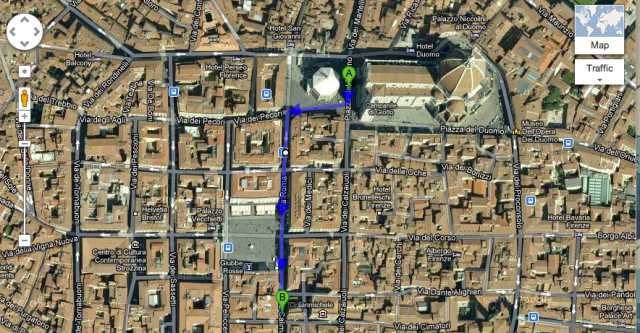 walking map to orsanmichele