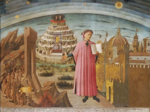 Dante and the Divine Comedy, Domenico di Michelino via Wikipedia