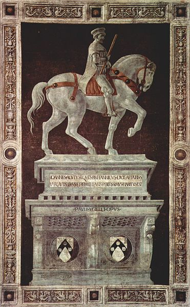 Funerary Monument to Sir John Hawkwood, Paolo Uccello via Wikapedia