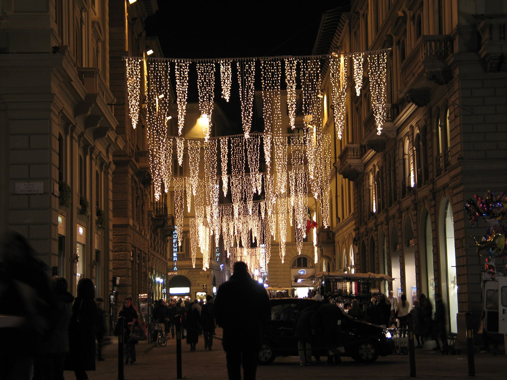 Christmas in Florence at Night by mookiefl, on Flickr