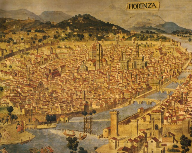 15th-century map of Florence, Francesco Rosselli