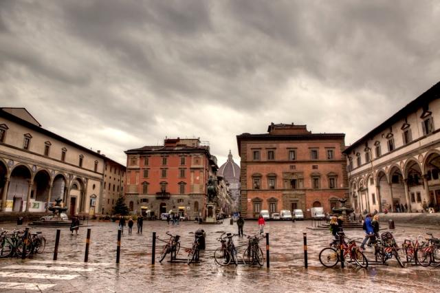 Piazza Santissima Annunziata by Giuseppe Moscato