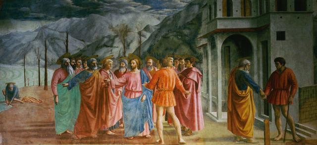 Masaccio, Tribute Money, Brancacci Chapel, 1425