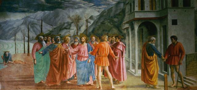 Masaccio, Tribute Money, Brancacci Chapel, 1425