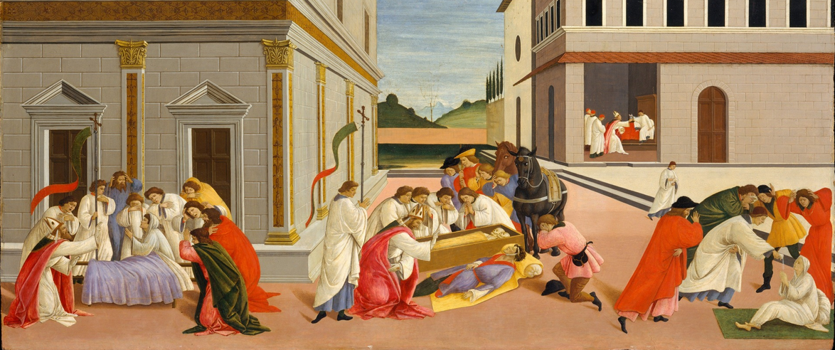 Botticelli, Three Miracles of Saint Zenobius, c. 1500