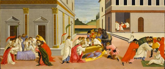 Botticelli, Three Miracles of Saint Zenobius, c. 1500
