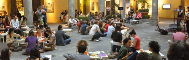 Courtyard music at Palazzo Strozzi