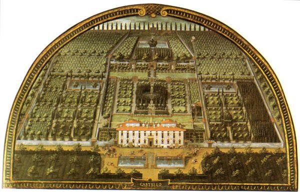 Lunette of Villa di Castello, Museo di Firenze Com'era