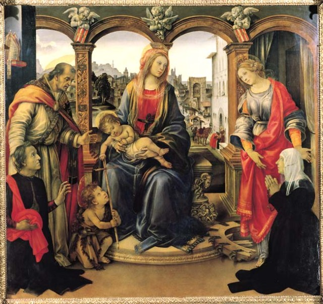 Filippino Lippi, Madonna with Child and Saints