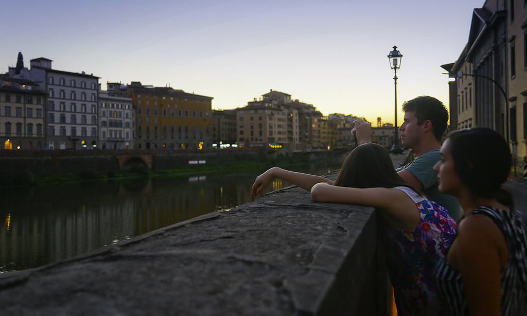 Friends along the Arno by Matt Freire on Flickr