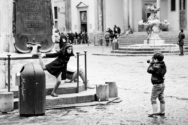 Playing in Piazza SS. Annunziata