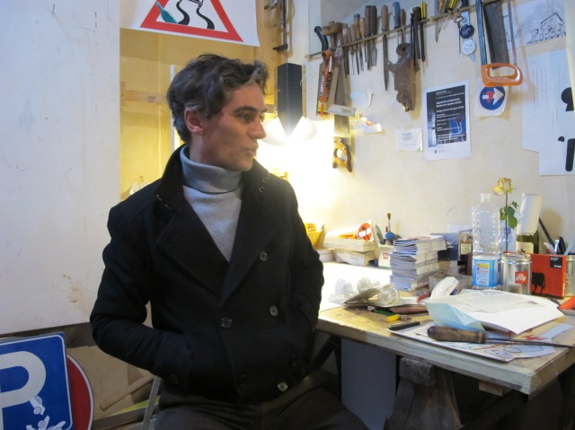 Clet Abraham in his workshop by Tuscany Arts