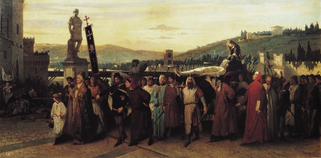 Funeral of Buondelmonte by Francesco Saviero Altamura, 1860