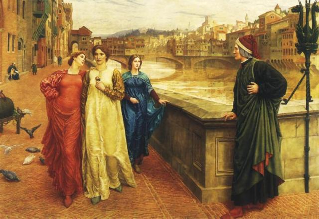 Dante and Beatrice by Henry Holiday, 1883
