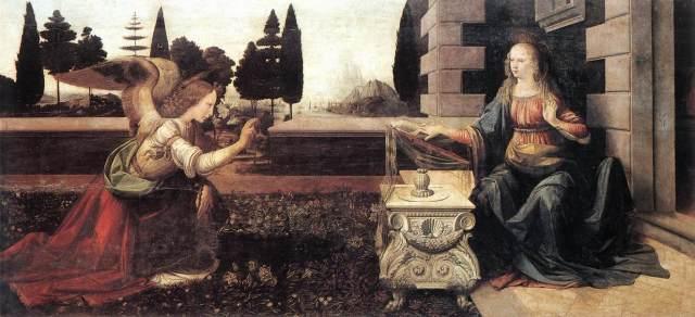 Leonardo da Vinci, Annunciation, 1472