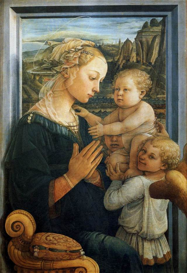 Fra Filippo Lipp, Madonna and Child with Two Angels, 1465