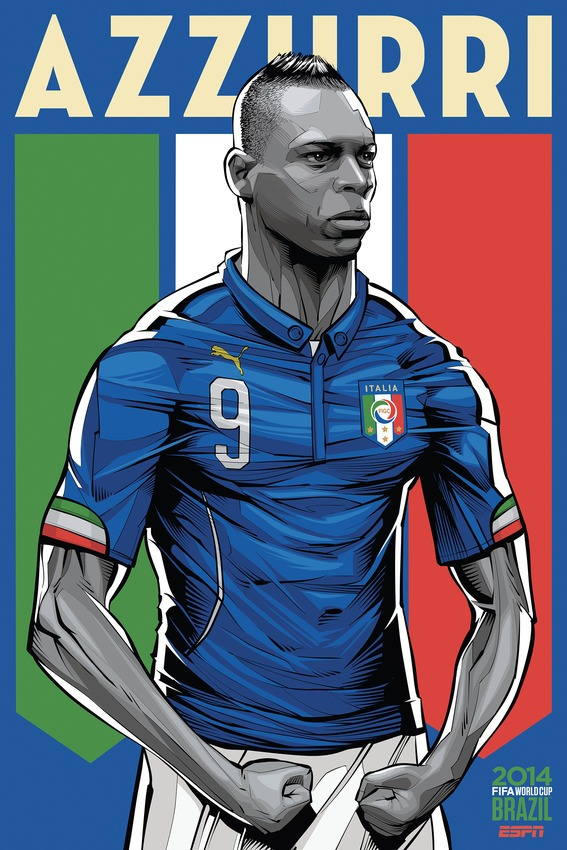 Illustration of Mario Balotelli via ESPN/Mashable
