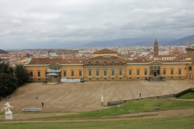 Piazzale Meridiana in the Boboli Gardens by Attilio Tori