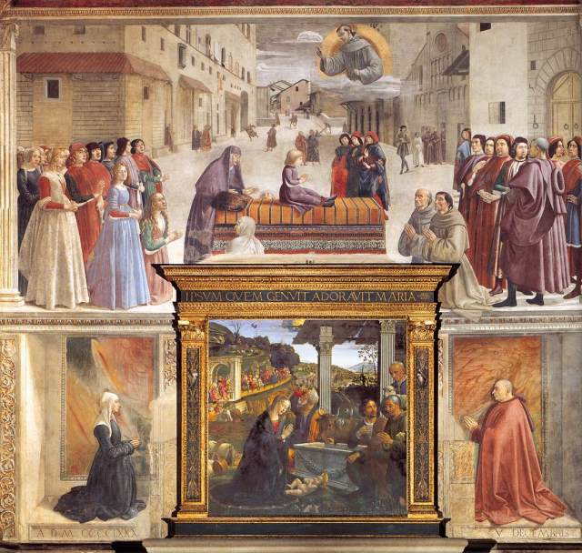 Domenico Ghirlandaio, Sassetti Chapel, Santa Trinita, ca. 1485