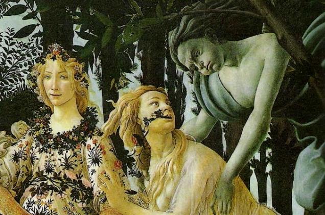 La Primavera (detail), Sandro Botticelli, 1477-1482