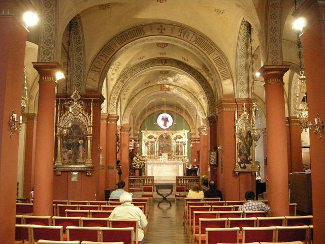 Inside of St. Mark's English Church via Wikimedia