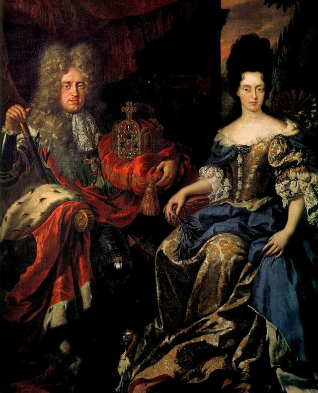 Elector Palatine Johann Wilhelm von Pfalz-Neuburg and Anna Maria Luisa de' Medici by Jan Frans van Douven, c. 1708