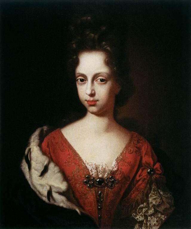 Anna Maria Luisa de' Medici as a Young Girl by Anton Domenico Gabbiani, 1685