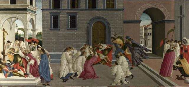 Botticelli, Three Miracles of Saint Zenobius (London), c. 1500