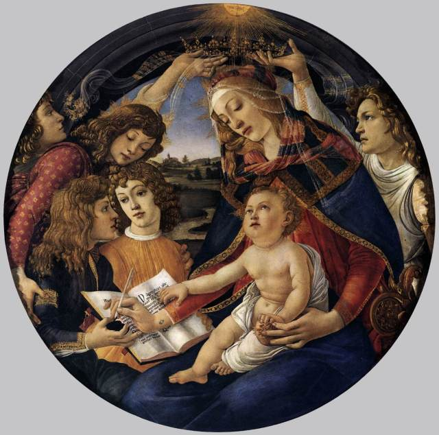 Sandro Botticelli,Madonna of the Magnificat, c 1480-81