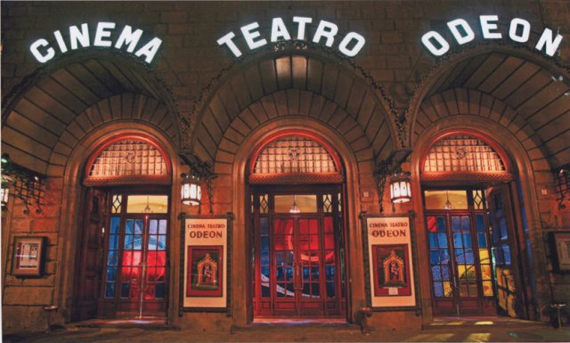 The beautiful Odeon Theater, just steps from Palazzo Strozzi