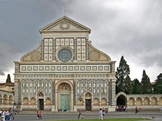 Facade of Santa Maria Novella via Wikipedia