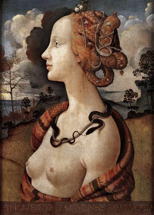 Piero di Cosimo, Portrait of Simonetta Vespucci, c. 1480