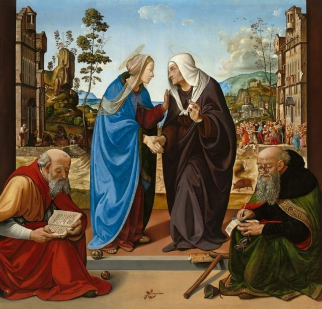 The Visitation with Saints Nicholas and Anthony Abbot